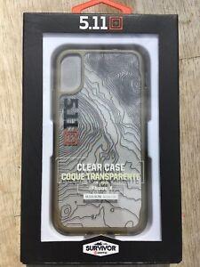 Survivor Griffin 5.11 Clear Case for iPhone X Ultra Slim Black Retail $25!