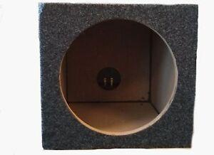 CAR-AUDIO-SINGLE-10-INCH-SUB-BOX-WOOFER-SUBWOOFER-SEALED-ENCLOSURE-CARPETED