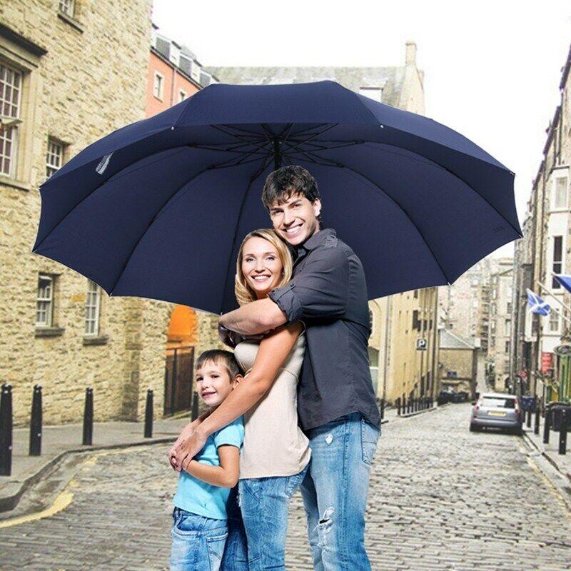 152CM Top-Qualität Regenschirm Herren Regen Damen Windfest Groß Paraguas Damen