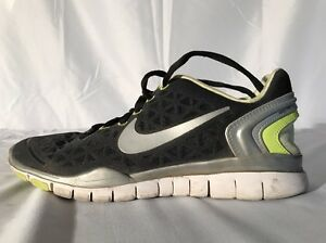 d244fe4661b3 Nike Free 5.0 Running Shoes Grey Black Neon Green Cross Training ...
