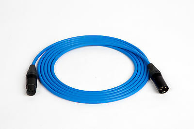 CANARE L-4E6S QUAD MICROPHONE MIC CABLE NEUTRIK XLR BLUE, 100 FT.