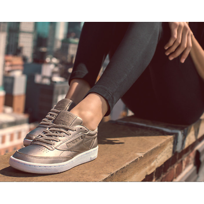 New Womens Reebok CLUB C 85 MELTED METAL BS7899 PINK WHITE US 5.5 9.0 TAKSE | eBay