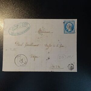 LETTRE NAPOLÉON N°22 SUR LETTRE COVER GC 830 CHAGNY CACHET M RULLY
