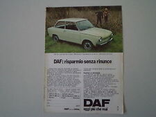advertising Pubblicità 1974 DAF 44 LUXE BERLINA