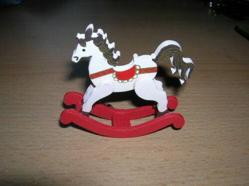 CREAL caballito de madera Rocking Horse Wood muñecas Tube 1:12 tipo 74645