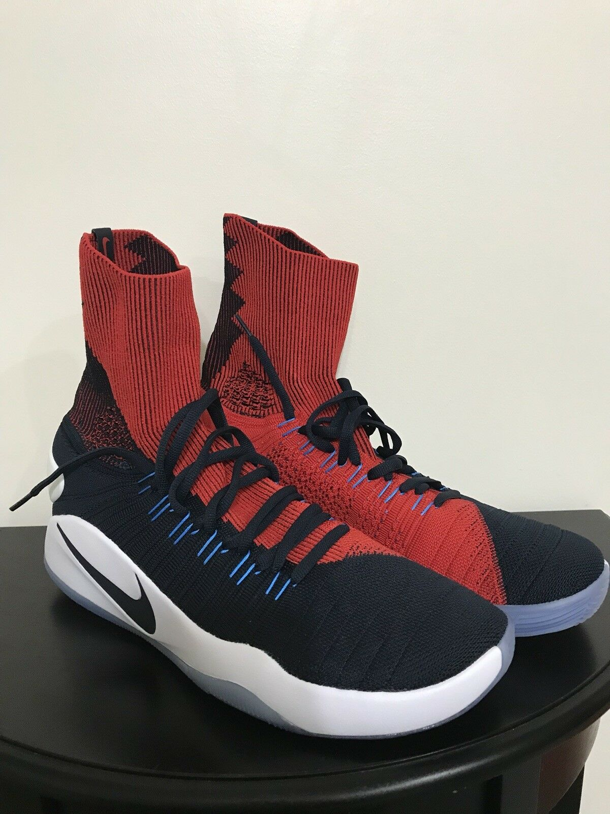 NEW Nike Hyperdunk USA Away 843390-446 Obsidian Navy Crimson Red White Sz 13