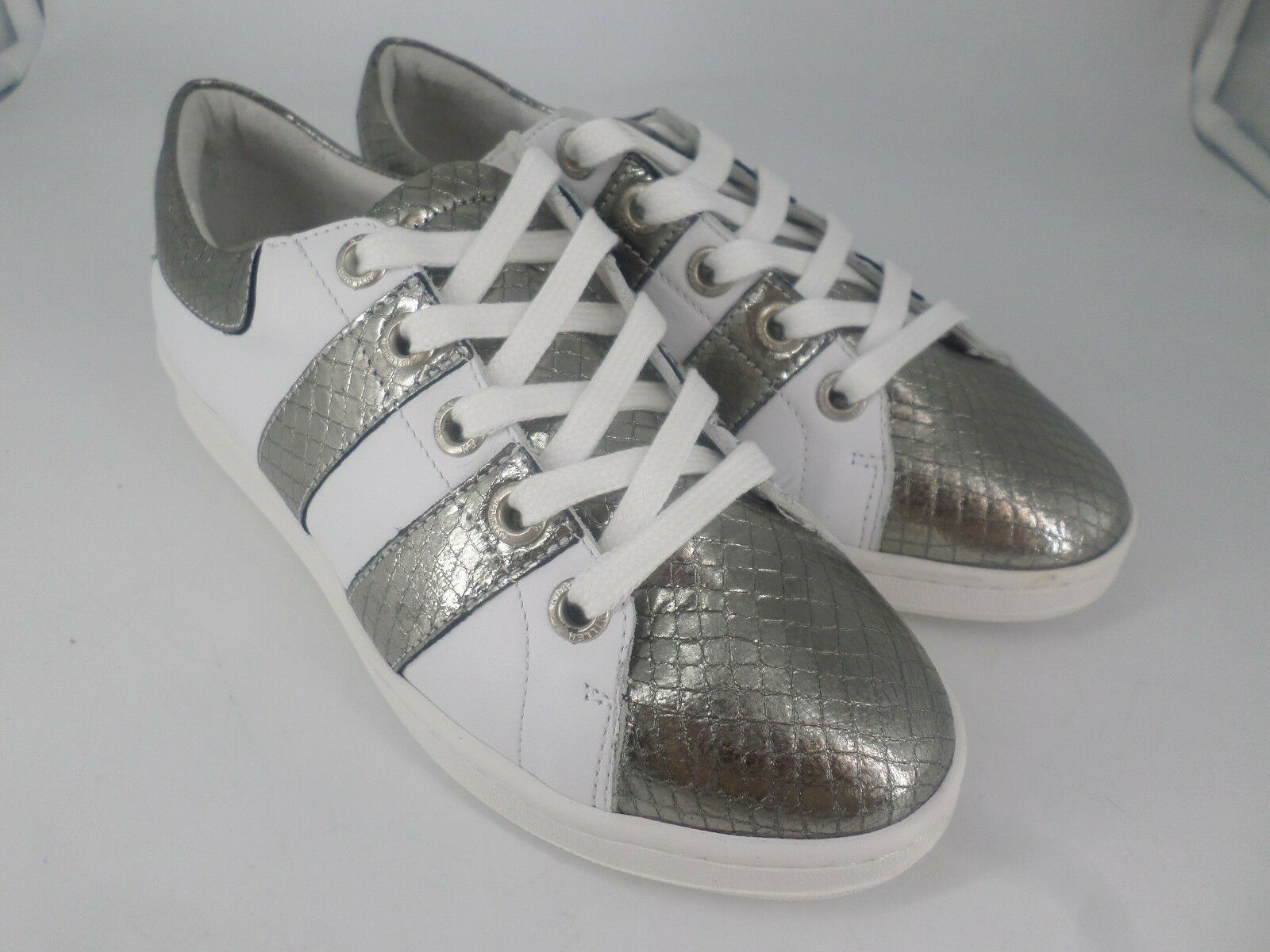 Karen Millen LEATHER TRAINERS Weiß MULTI   UK 5 EU 38 LN20 84 SALEx