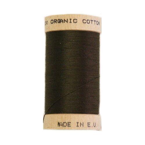 Rosca 100 metros Carrete orgánico scanfil-Marrón Oscuro 4830-100/% orgánico Cott
