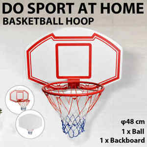 vidaXL Three Piece Wall Mounted Basketball Backboard Set Goal Hoop System