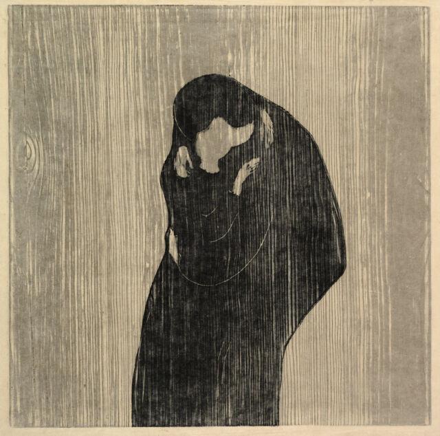 Edvard Munch Print Reproductions: The Kiss IV - Fine Art Print