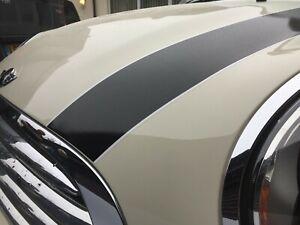 Mini-R55-R56-R57-Cooper-S-bonnet-stripes-OEM-shape-size-stickers-BUBBLE-FREE