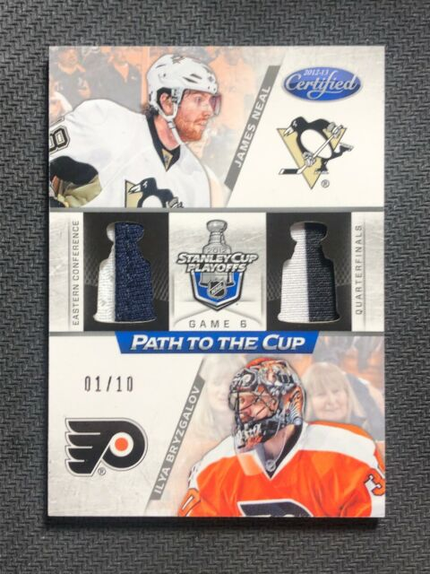 2012-13 PANINI CERTIFIED NEAL/BRYZGALOV PATCH TO THE CUP JERSEY PRIME #ed 1/10