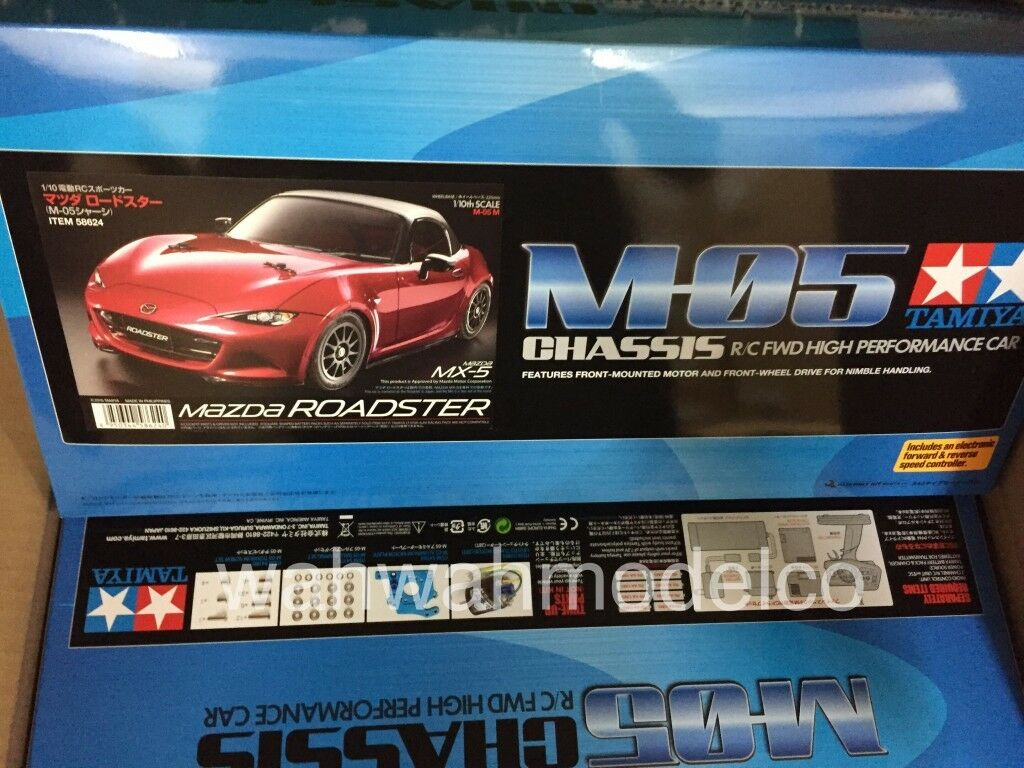 Tamiya 1:10 M05 Mazda MX5 2WD EP w/ESC M-Chassis RC Touring Car On Road  58624