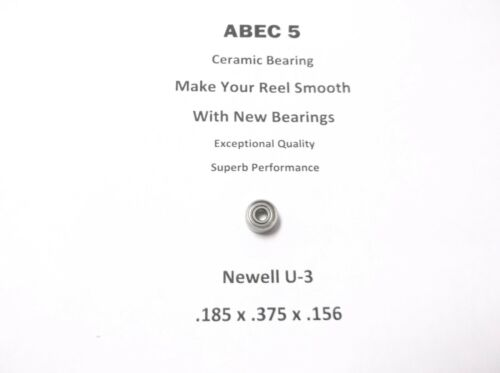 Newell Reel Part 440-5 U-3 ABEC 5 Ceramic Bearing .125 x .375 x .156 #19