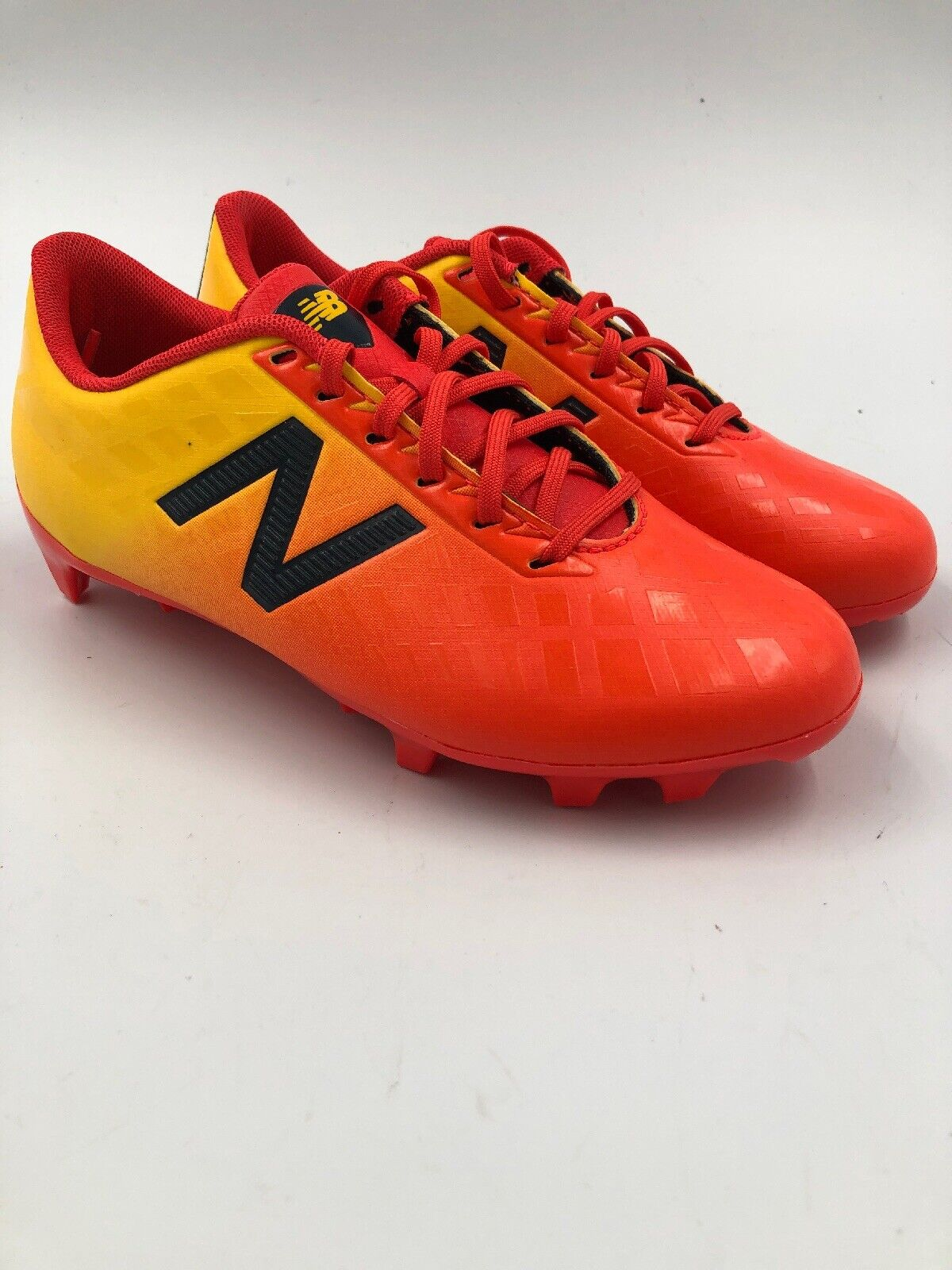 New Balance Furon 4 orange yellow Cleats Youth Size 1.5 Soccer - Never Worn