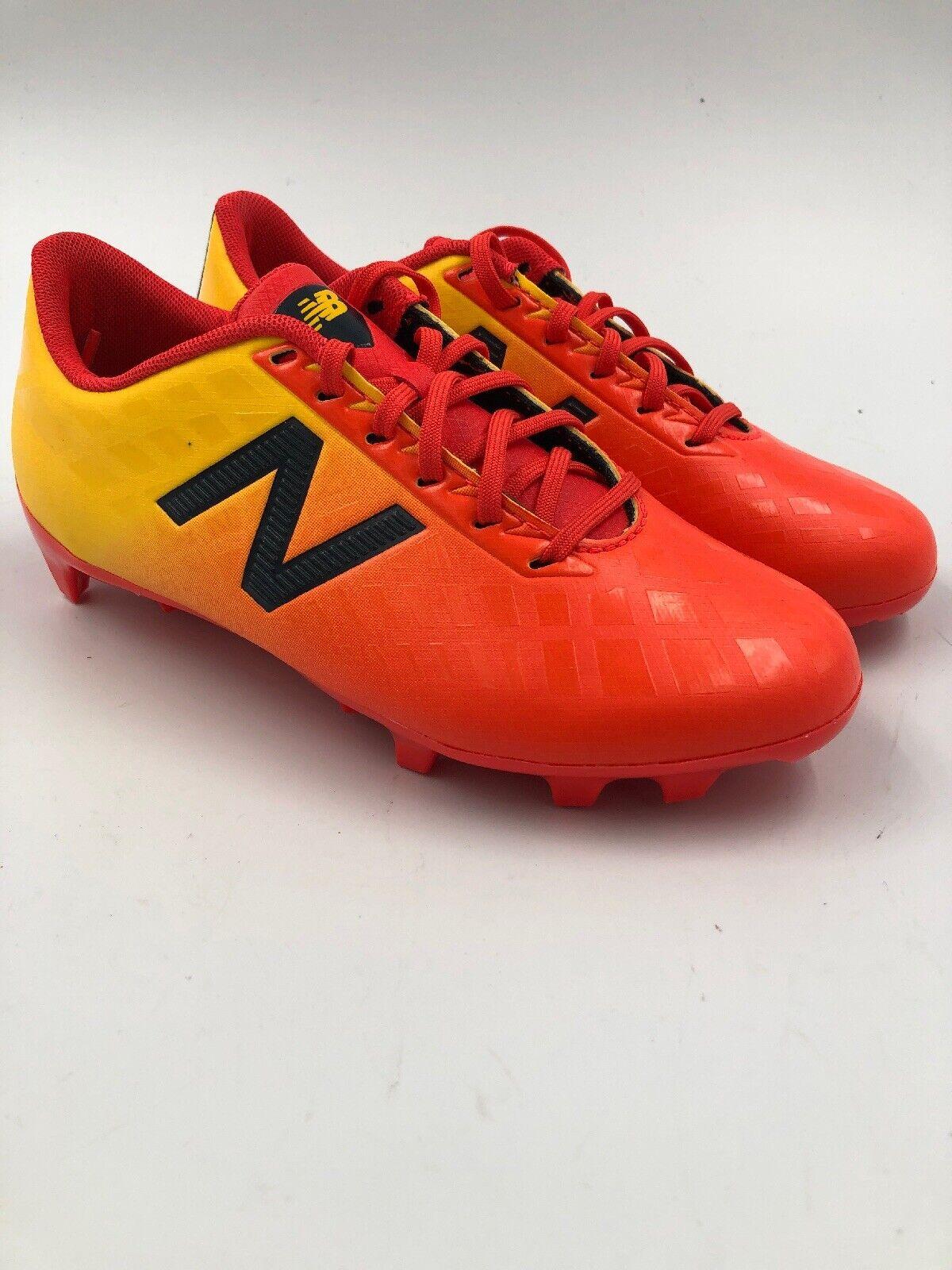 New balance Furón 4 Naranja Amarillo Tacos Juventud tamaño 1.5 Soccer-Nunca Usado