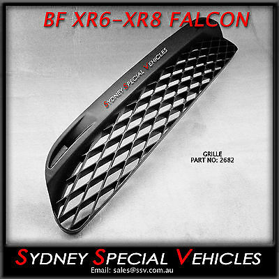 PLASTIC MESH GRILLE FOR BF XR6 XR8 FRONT BARS MODELS LOWER GRILL XR NEW