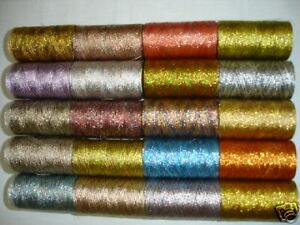 20-Multi-Metallic-Embroidery-Thread-spools-400-Meters-EACH-20-Colours