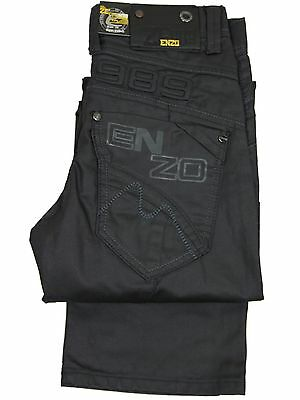 "NEW KIDS BOYS ENZO EZB45 BRANDED STRAIGHT LEG JEANS SIZES 24""-28""  SPECIAL PRICE"