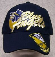 Embroidered Baseball Cap Military Navy Blue Angels 1 Hat Size Fits All