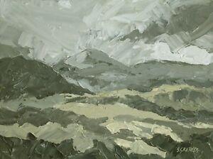 Snowdonia-ORIGINAL-LANDSCAPE-PAINTING-Welsh-Mountains-Steve-Greaves-Art-Kyffin