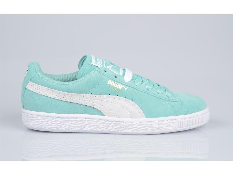 PUMA SUEDE CLASSIC WN'S PASTEL 355462 32 HOLIDAY TURQUOISE MINT/WEISS - CASUAL