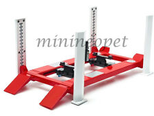 GREENLIGHT 12888 FOUR POST LIFT FOR 1/18 DIECAST CAR RAISES & LOWERS RED WHITE