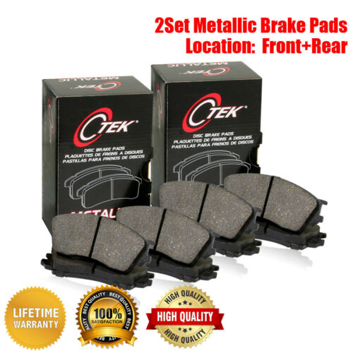 Centric Front /& Rear Metallic Brake Pads 2SET For Alfa Romeo 147