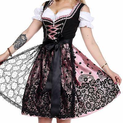 0230 Dirndl Trachtenkleid 3Tlg Oktoberfest Gr.34 bis 52 !!ORIGINAL LIFOS!!