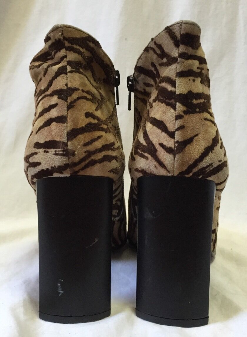 Palizzio Zebra Suede Fabric Booties Ankle Boots W… - image 3