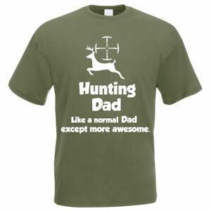 10b9be2b3 Image is loading Funny-Hunter-Gift-T-Shirt-HUNTING-DAD-Shooting-