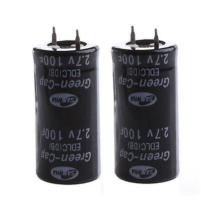 2PCS  Super Capacitor 2.7V 100F Ultra Capacitor Farad New