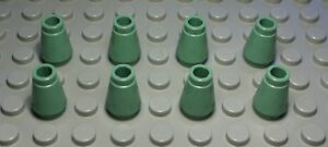 Lego-Stein-Kegel-1x1-Sandgruen-8-Stueck-1349