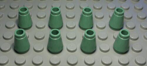 Lego Stein Kegel 1x1 Sandgrün 8 Stück 1349 #