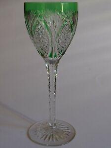 1 Ancien Grand Verre A Vin Couleur Roemer Cristal St Louis Vert Emeraude Ht 21,5 Une Grande VariéTé De ModèLes