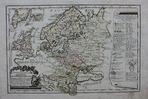 NORTH-amp-EAST-EUROPE-BALTIC-RUSSIA-original-antique-map-Von-Reilly-1791