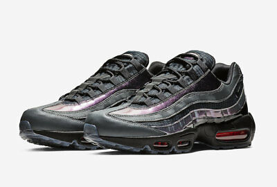 look out for lower price with look out for AO2450-001} MEN'S NIKE AIR MAX 95 LV8 Black/Ember Glow-Dark Grey ...