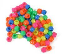 Pony Beads Mix Acrylic Neon Artsy Jewelry Craft Lot Of 480