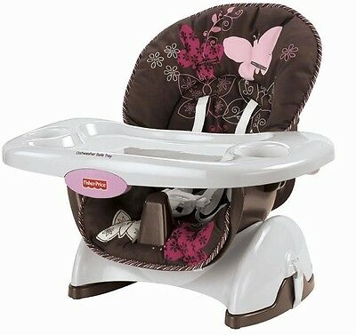 NEW & SEALED! Fisher-Price Space Saver High Chair (Mocha Butterfly)