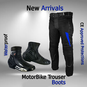 Motorcycle-Pant-Textile-Trouser-Armoured-Waterproof-Motorbike-Leather-Boot-Shoes