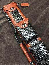Vincitore Genuine Leather Case 2 Butt 4 Shaft 2x4 Basket Weave Design Free Ship