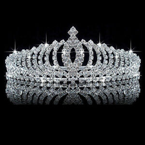 Kids-Girl-Crystal-Bridal-Bridesmaid-Crown-Headband-Tiara-Hair-Comb-Wedding-Party