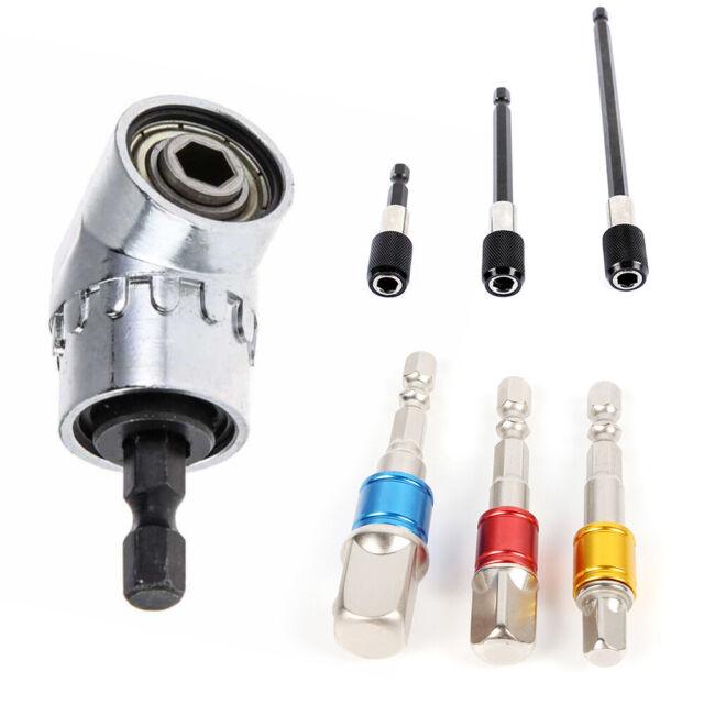 "Socket Bit Adapter Drill Nut Driver Power Extension Bar 3pc Set 1//4/"" 3//8/"" 1//2/"""