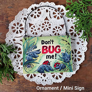 Don-039-t-Bug-Me-DecoWords-Ornament-Mini-Sign-Ladybugs-Do-not-disturb-New-US