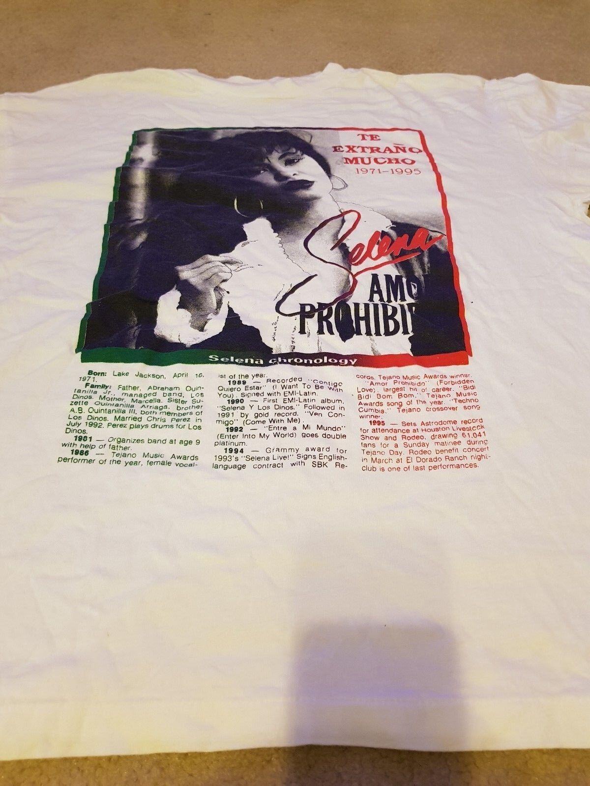 Vintage Selena Te Extrano Mucho 1971-1995 T-Shirt MEGA RARE  XL Great condition