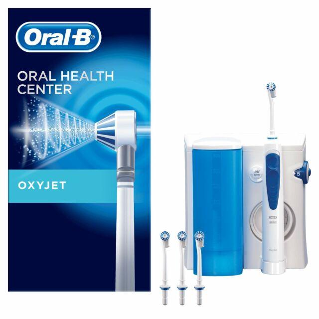 Oral-B Oxyjet Idropulsore con Sistema Pulente 4 Testine di Ricambio Oxyjet