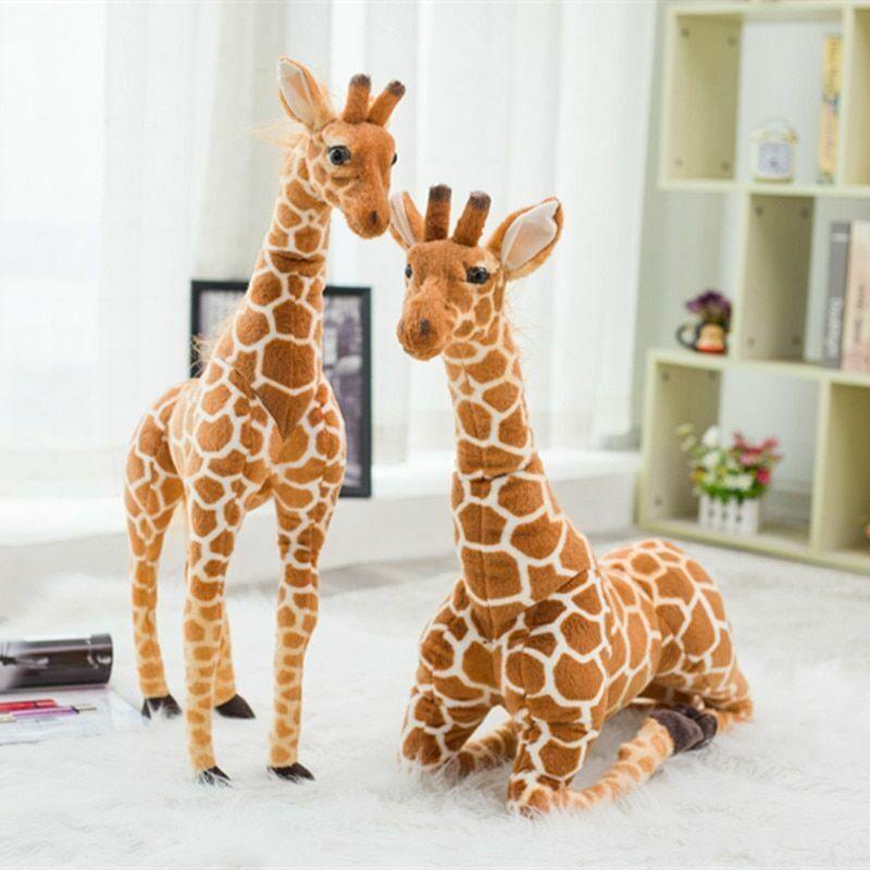 Plush Toys Stuffed Animal Soft Simulation Giraffe Doll Birthday Gifts For Kids