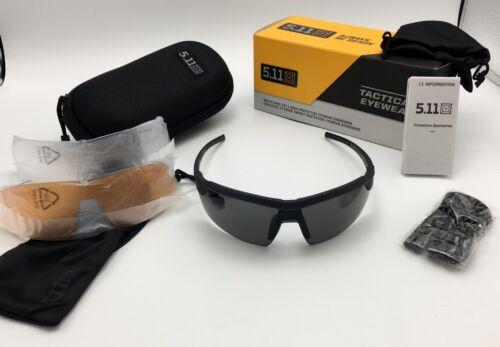 5.11 Tactical Accelar Men/'s Ballistic Matte Sunglasses w// 3 Interchangeable Lens