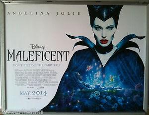 Details About Cinema Poster Maleficent 2014 Main Quad Angelina Jolie Elle Fanning Sam Riley