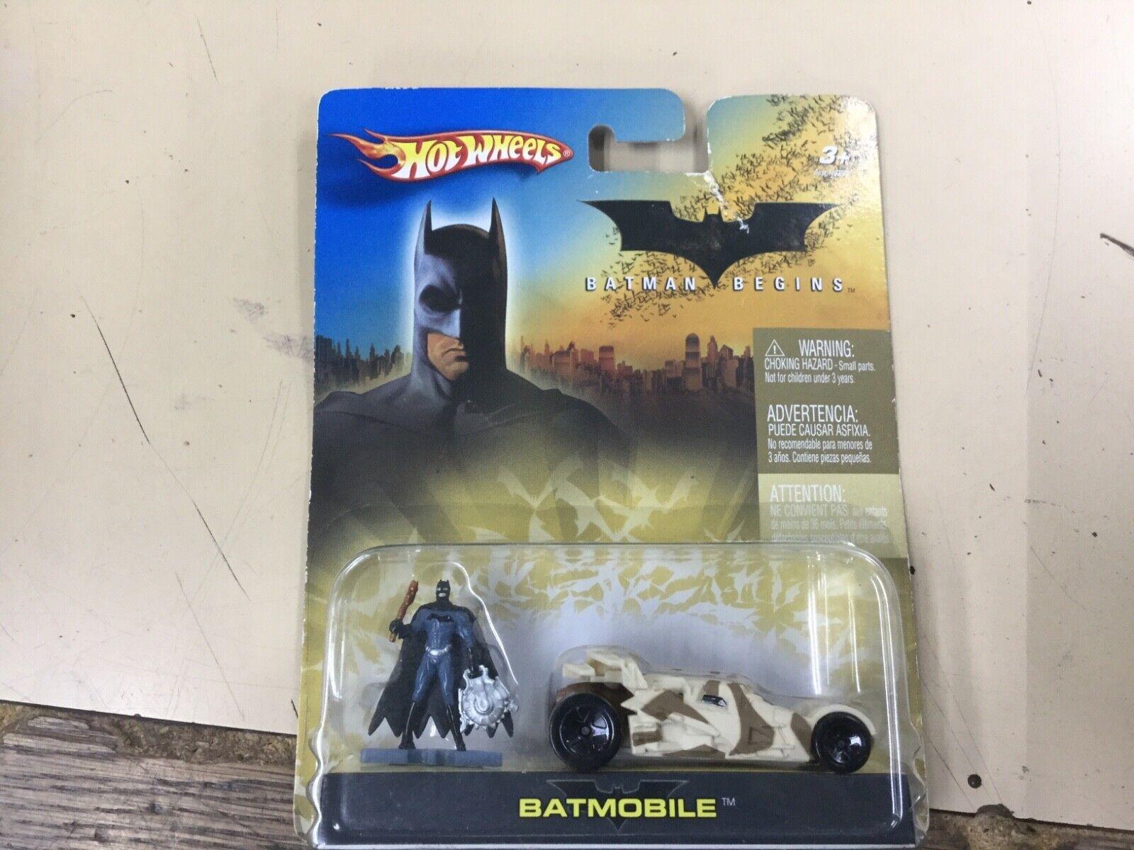 HOT WHEELS 2006 BATMAN BEGINS BATMOBILE WITH FIGURE